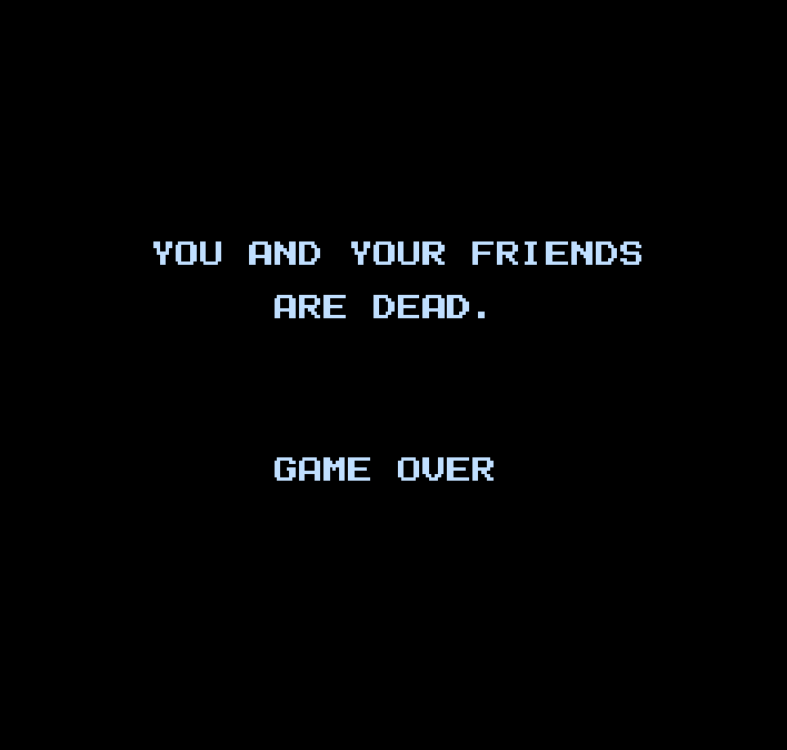 Friday the 13th NES You and Your Friends Are Dead