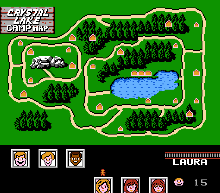 Friday the 13th NES camp map
