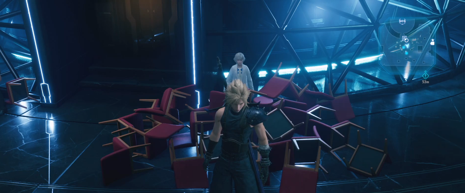 Chairdley - Final Fantasy VII Chadley but covered in chairs