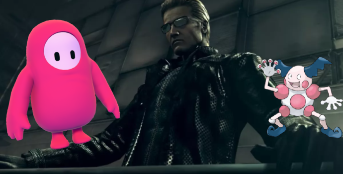 Wesker, Thick Bonkus, and Mister Mime in a nightmare