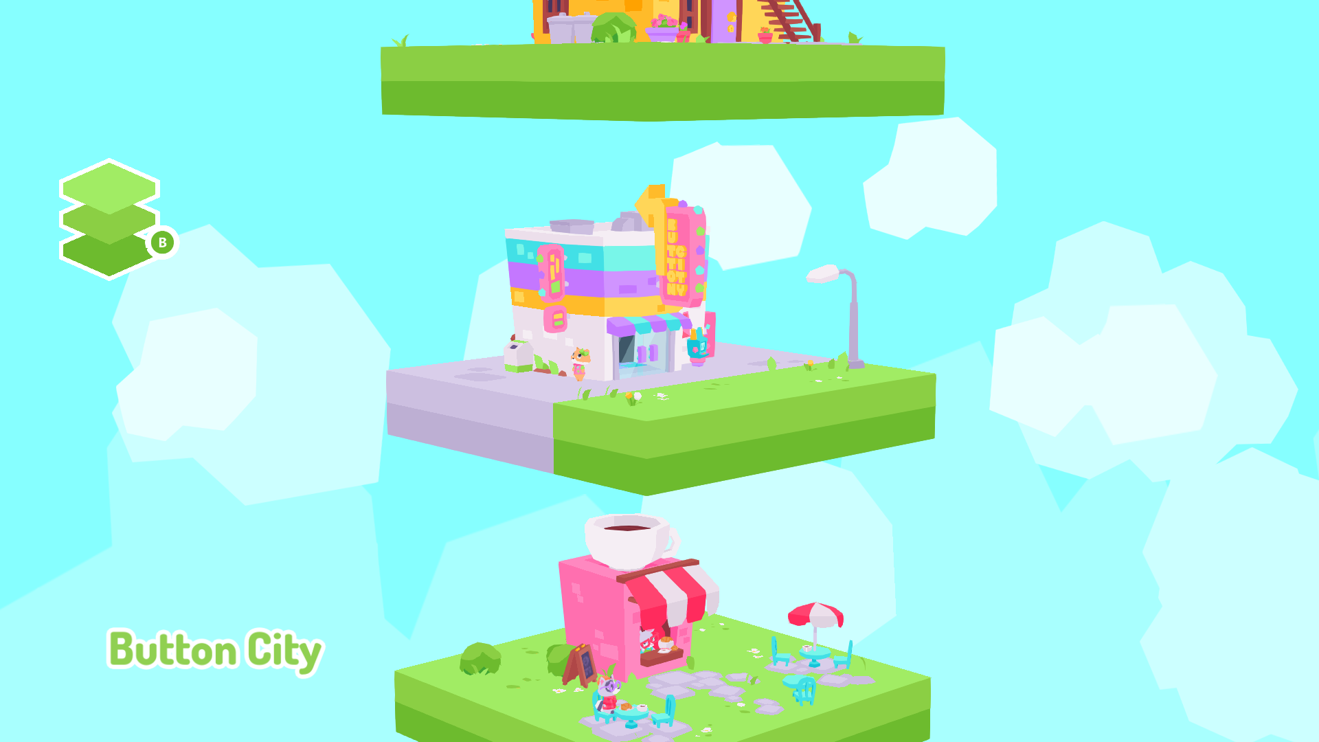Button City's level select screen